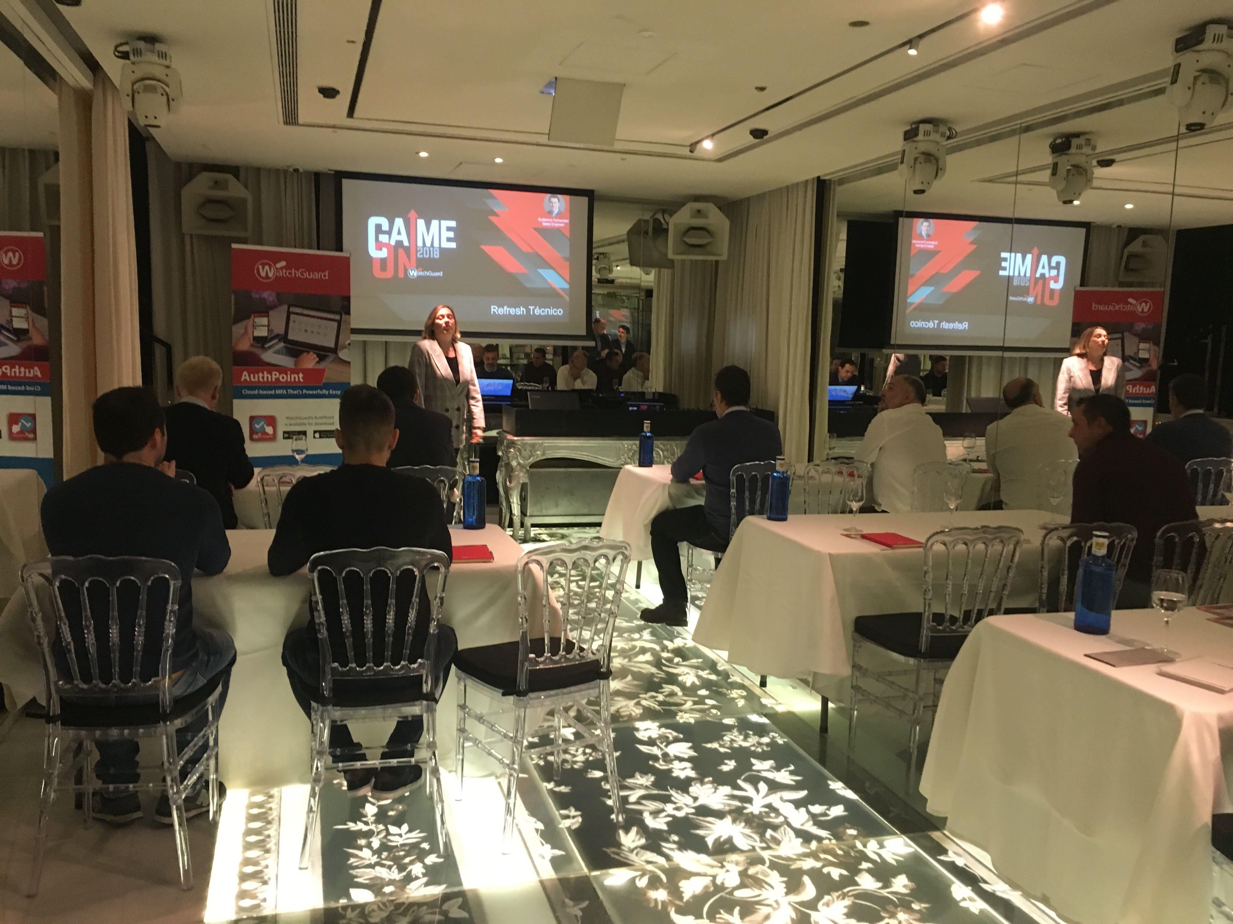 evento altair networks y watchguard en restaurante ramses life de madrid